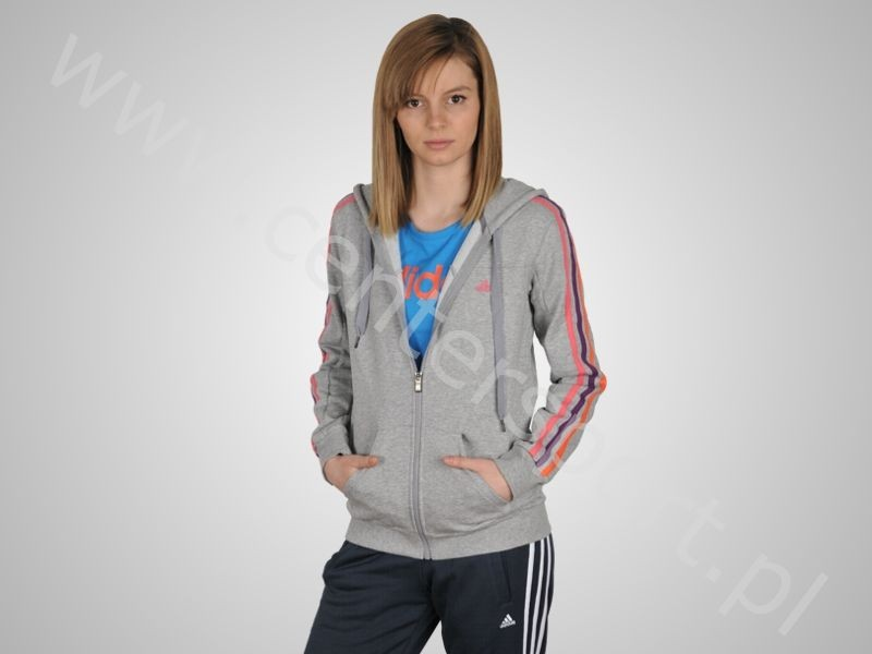 BLUZA ADIDAS ESSENTIAL 3S HOODED TRACKTOP